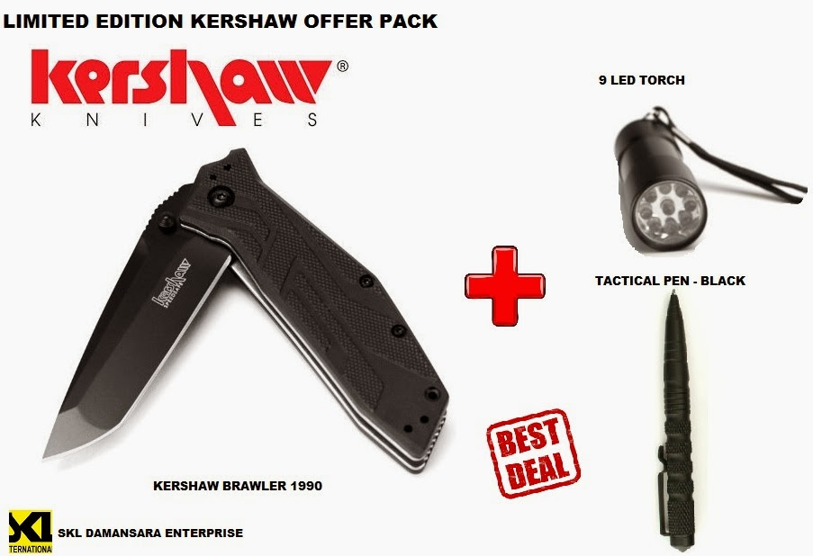 Kershaw 1990 Brawler Limited Edition 3pcs Tactical Knife Set @ RM 399 only!!!