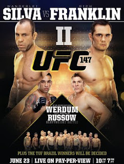 ufc 147 poster final  Download   UFC 147   HDTV + 720p + RMVB