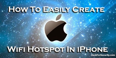 How To Easily Create Wifi Hotspot In iPhone 6 Plus, 6, 5, 5S, 5C, 4, 4S