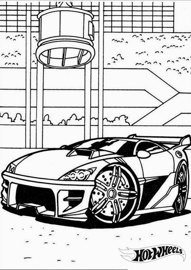 Hot Wheels Coloring Pages 19