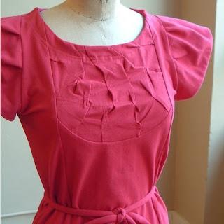 Cherry Red Jersey Dress