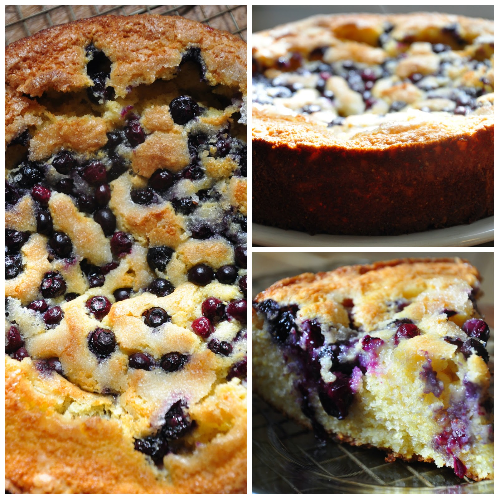 Huckleberry Blueberry Cornmeal Cake Recipe
