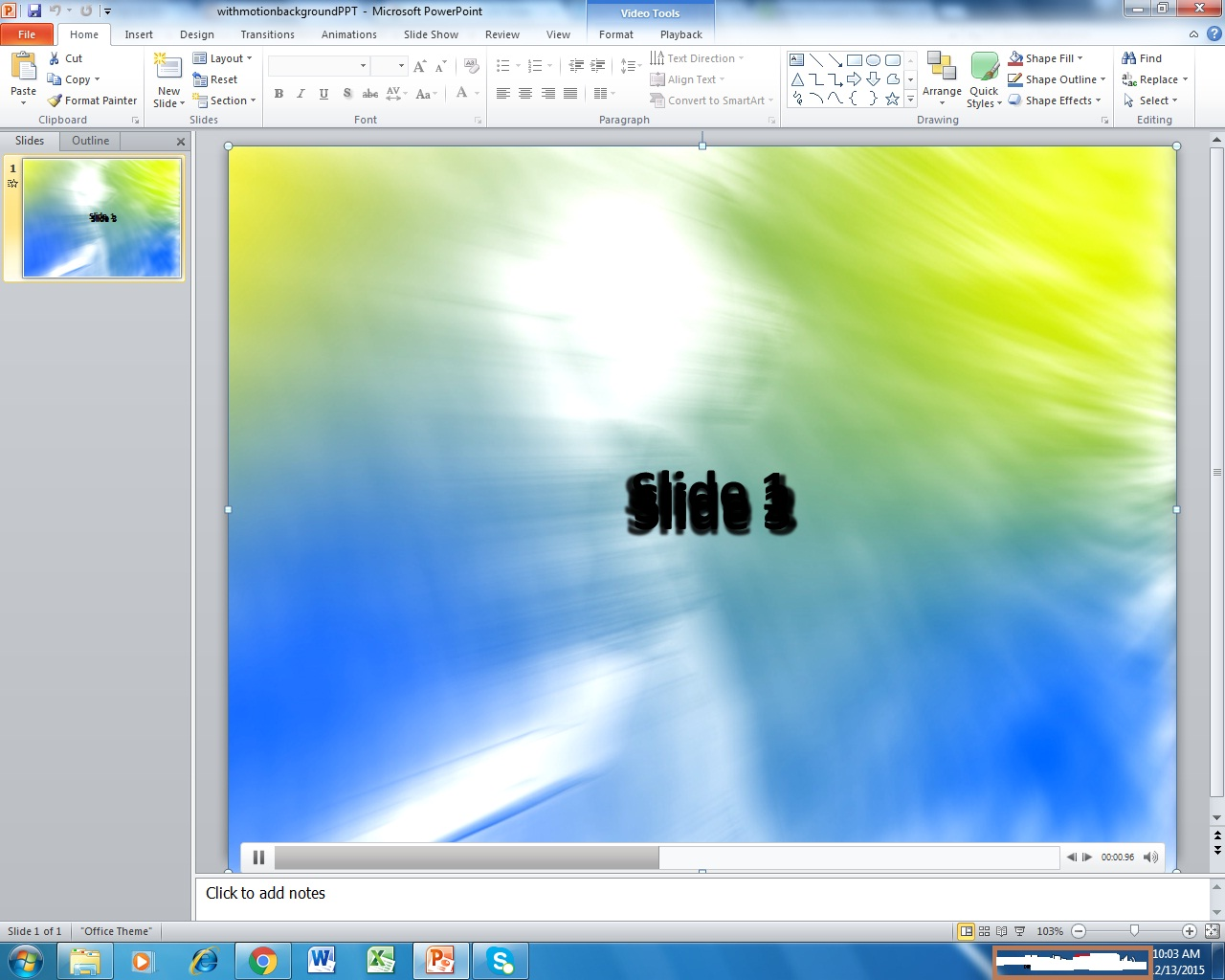 create a powerpoint background