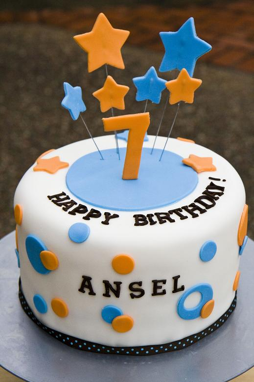 This Cake Was For Her Son Ansel Who Turned 7 Years Old A Few Weeks Ago