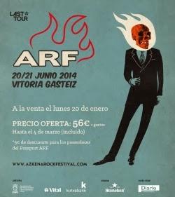 Fechas Azkena Rock Festival