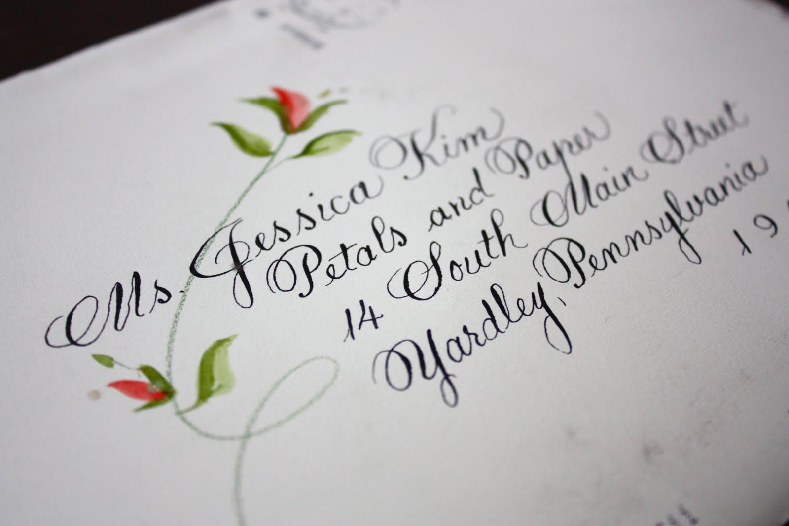 Petals Paper Boutique Calligraphy Services At The Boutique