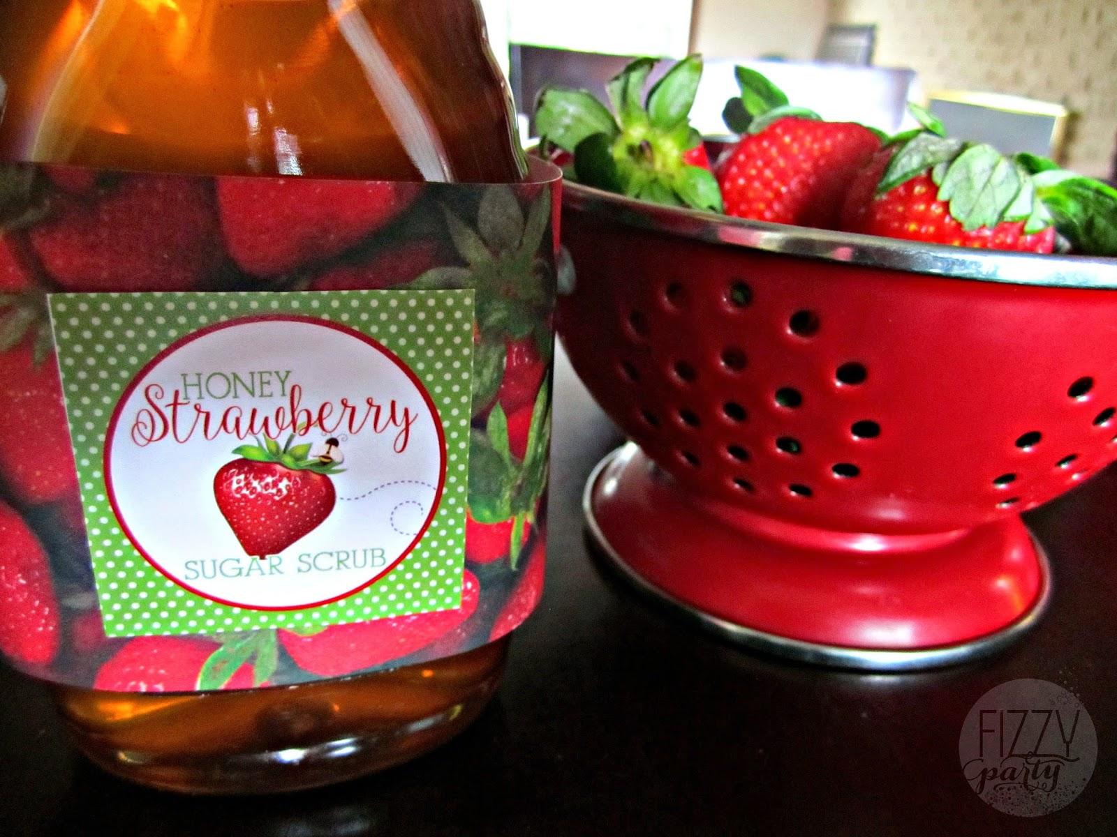 Honey strawberry sugar scrub ingredients
