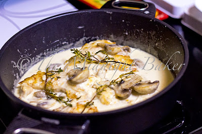 Mushroom Asiago Chicken in Gastrolux Saute Pan