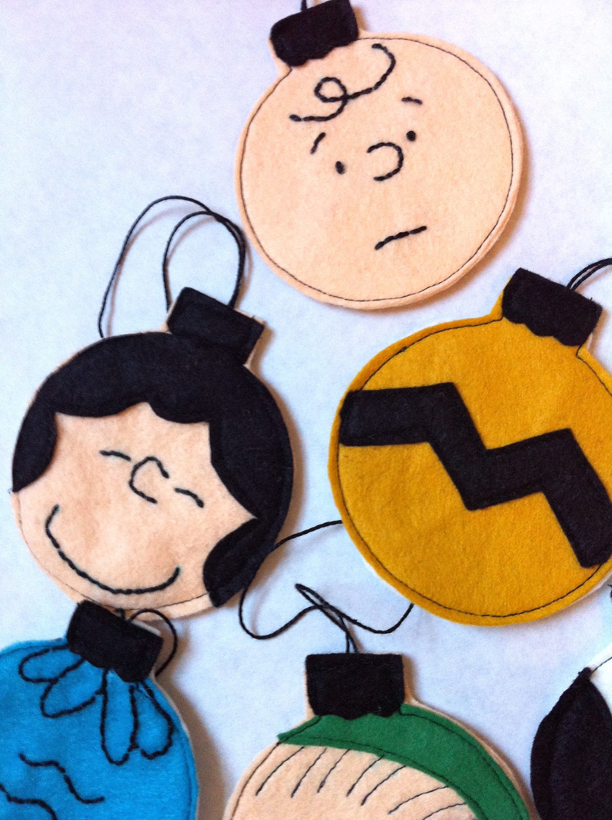 update you can now buy your own set of charlie brown ornaments from my etsy shop right here - Charlie Brown Christmas Decorations