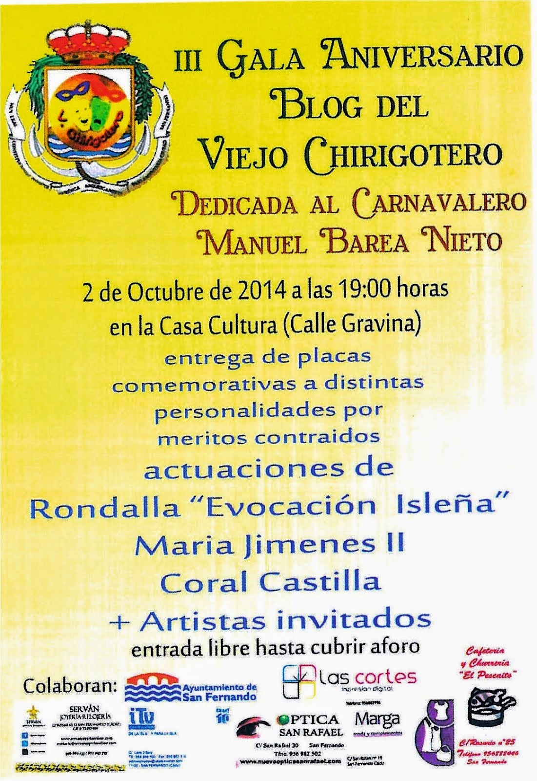 III Gala del Blog Viejo Chirigotero
