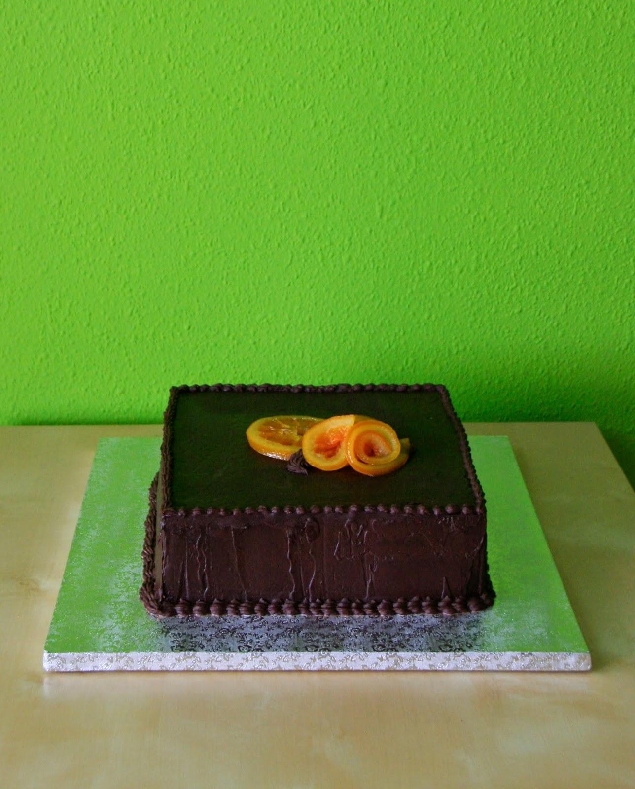 Tarta de xocolatai taronja amb recepta de taronges confitades