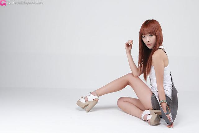 5 Minah in Short Overalls-Very cute asian girl - girlcute4u.blogspot.com