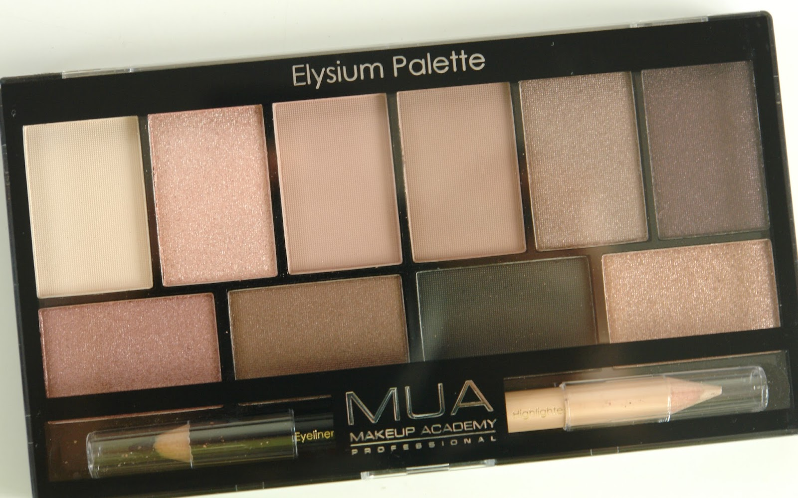 MUA Elysium Palette review, MUA, eye shadows, palette, make up, beauty, review, swatches, UK blog, beauty blogger,