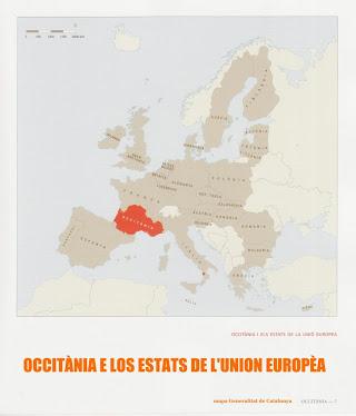 Mapa de l'Union Europèa e Occitània
