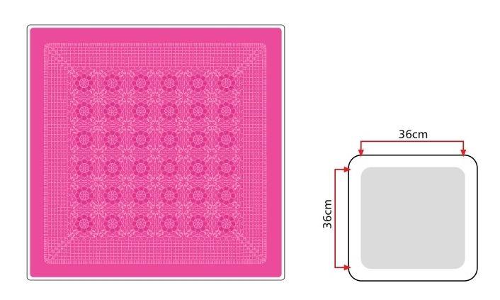 moldes de almohadon crochet