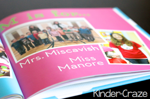 M page in alphabet photo book... love this idea!