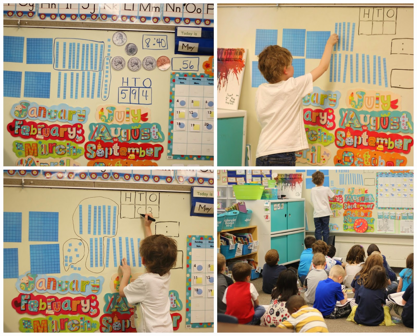 This blog post has daily schedules for a kindergarten classroom including Calendar Math