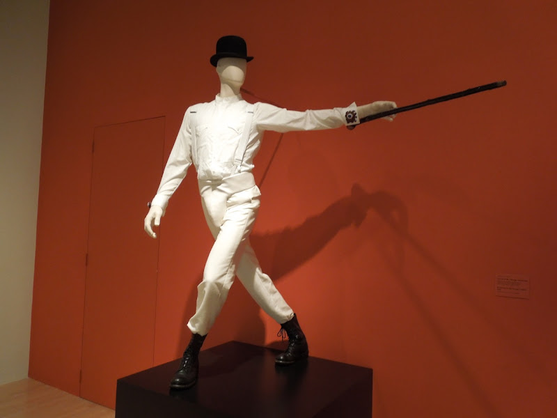 Clockwork Orange Alex DeLarge costume Stanley Kubrick exhibit LACMA