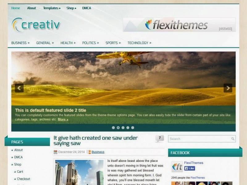 Creativ - Free Wordpress Theme