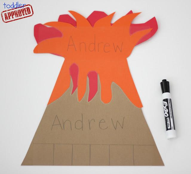 volcano writing paper