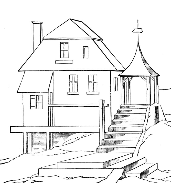 House Pictures To Color