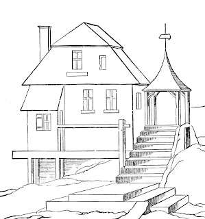 house coloring pages, free coloring pages