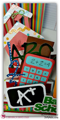 SVG Attic Back To School Step Card and Gift Card Book