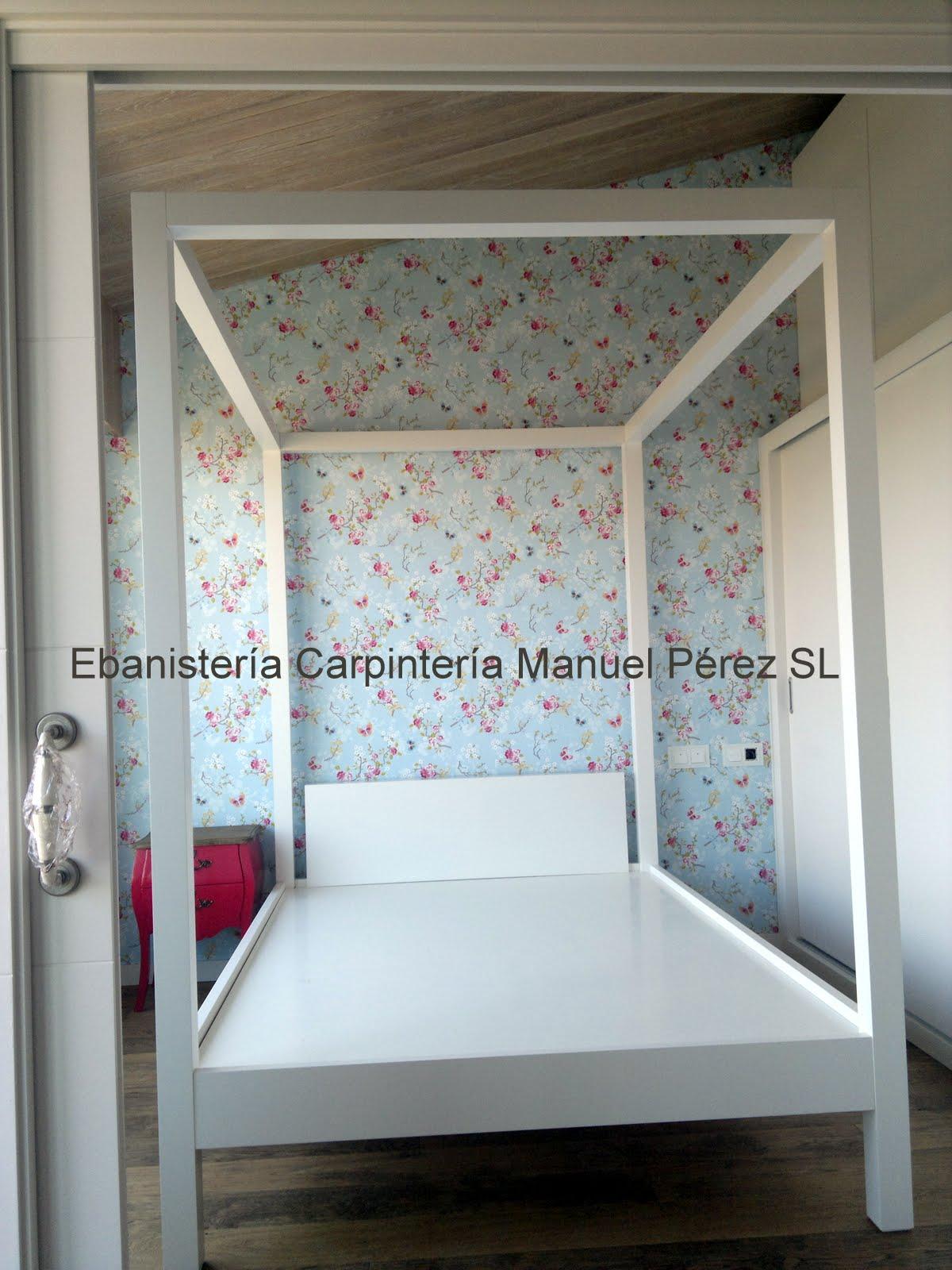 EBANISTERIA CARPINTERIA MANUEL PEREZ ( Zaragoza ): Cama con dosel, a ...