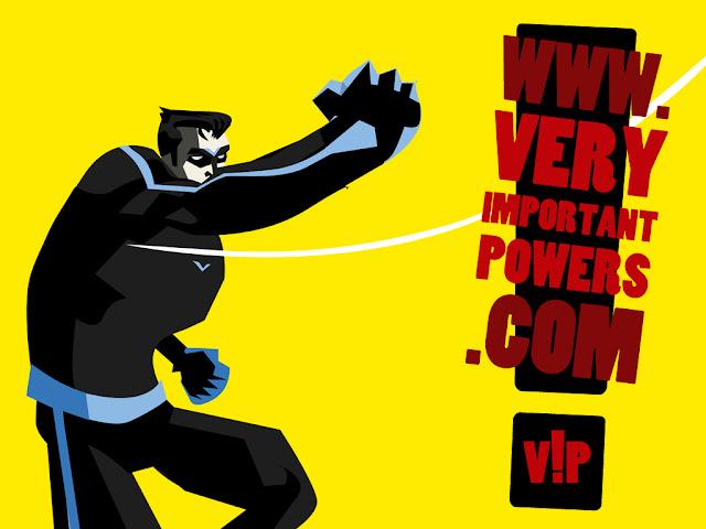 Serie a Fumetti Very Important Powers on-line Volto della Notte pugno