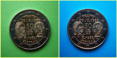 2 Euros Francia y Alemania 2013