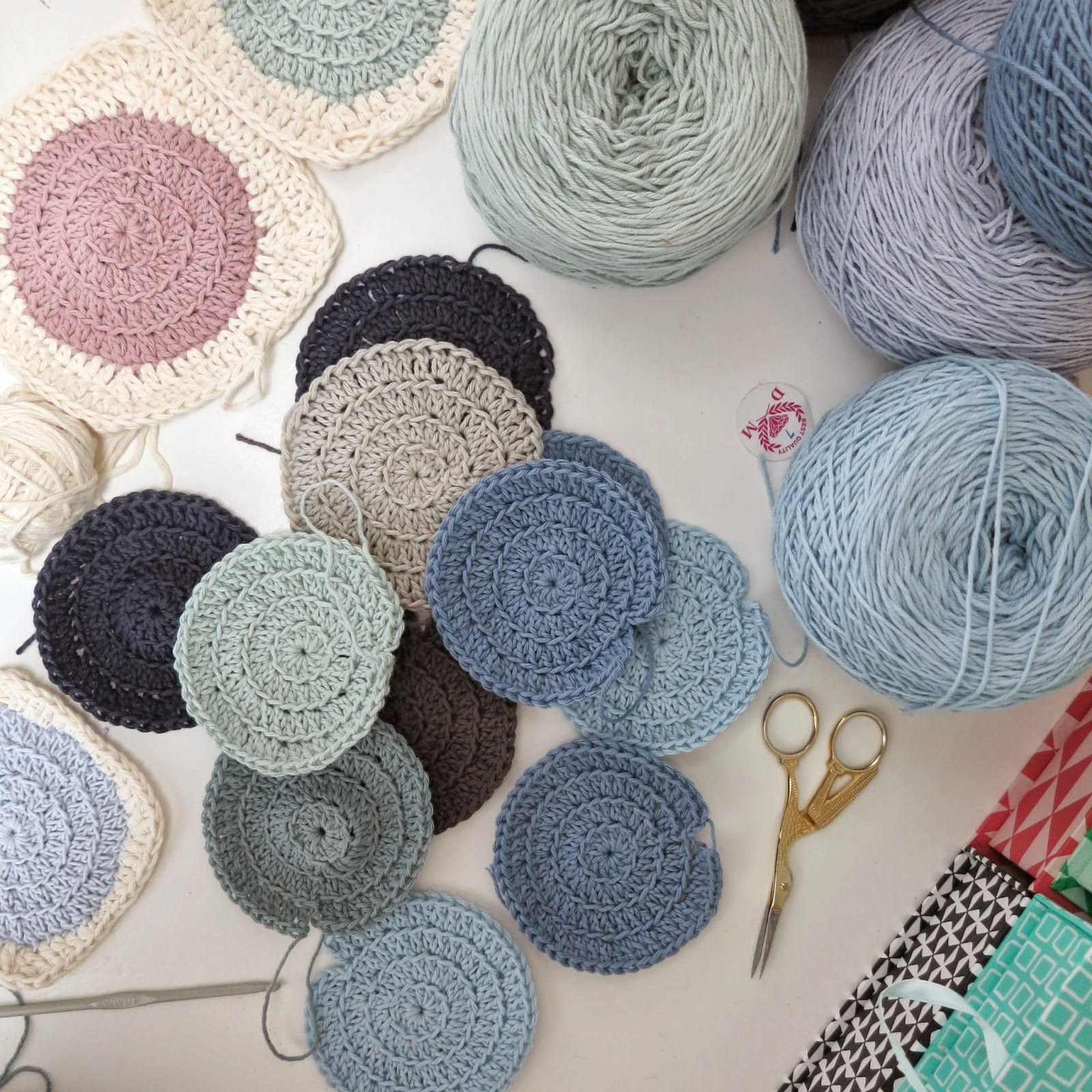 ByHaafner, crochet, wip, circles,
