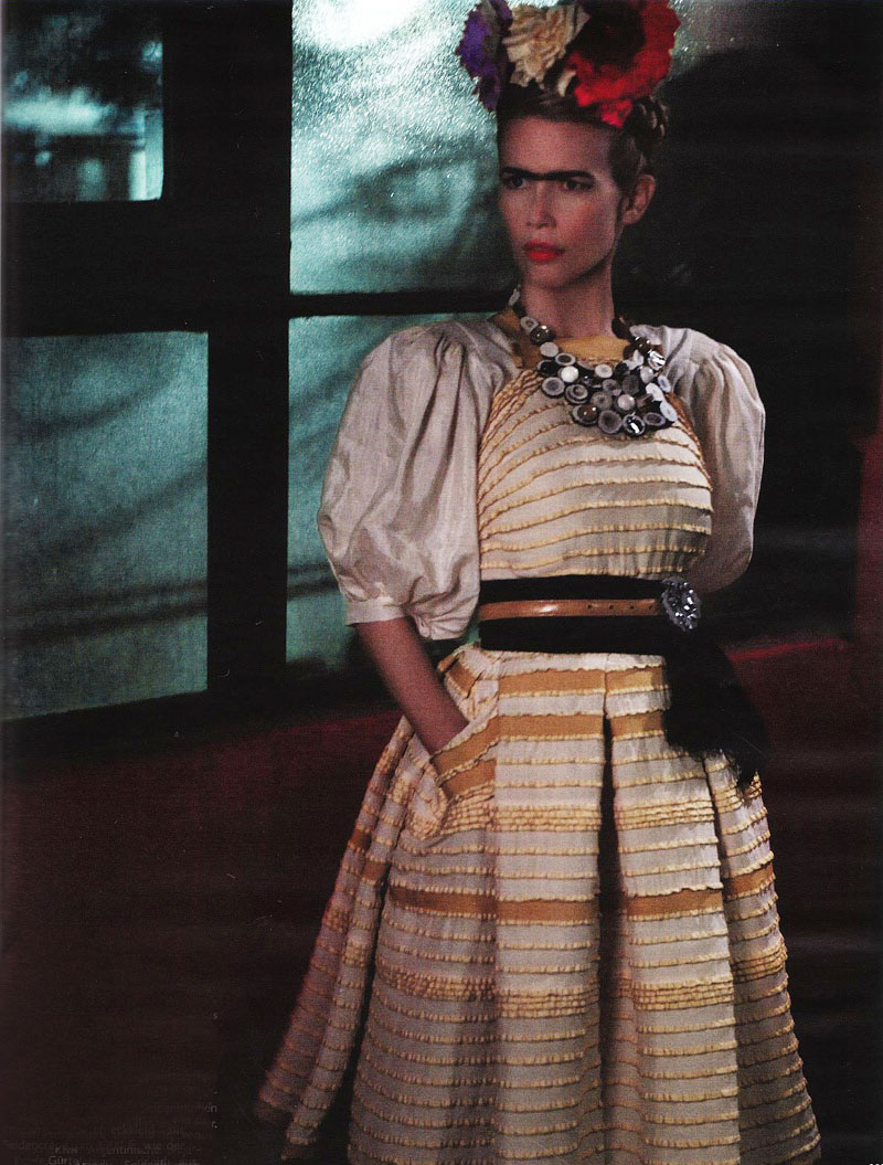 Claudia Schiffer in Vogue Germany March 2010 (photography: Karl Lagerfeld, styling: Christian Arp)