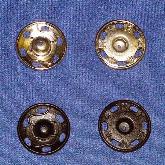 Botones de Presion Agrega decoraci/ón a las manualidades para que tu bricolaje sea m/ás flexible y compacto Corchetes de Presion Metalicos