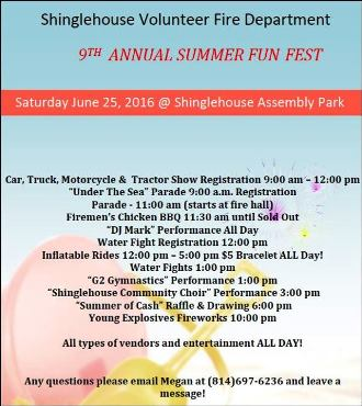 6-25 SVFD 9th Annual Summer Fun Fest