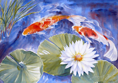 One of my koi fish paintings