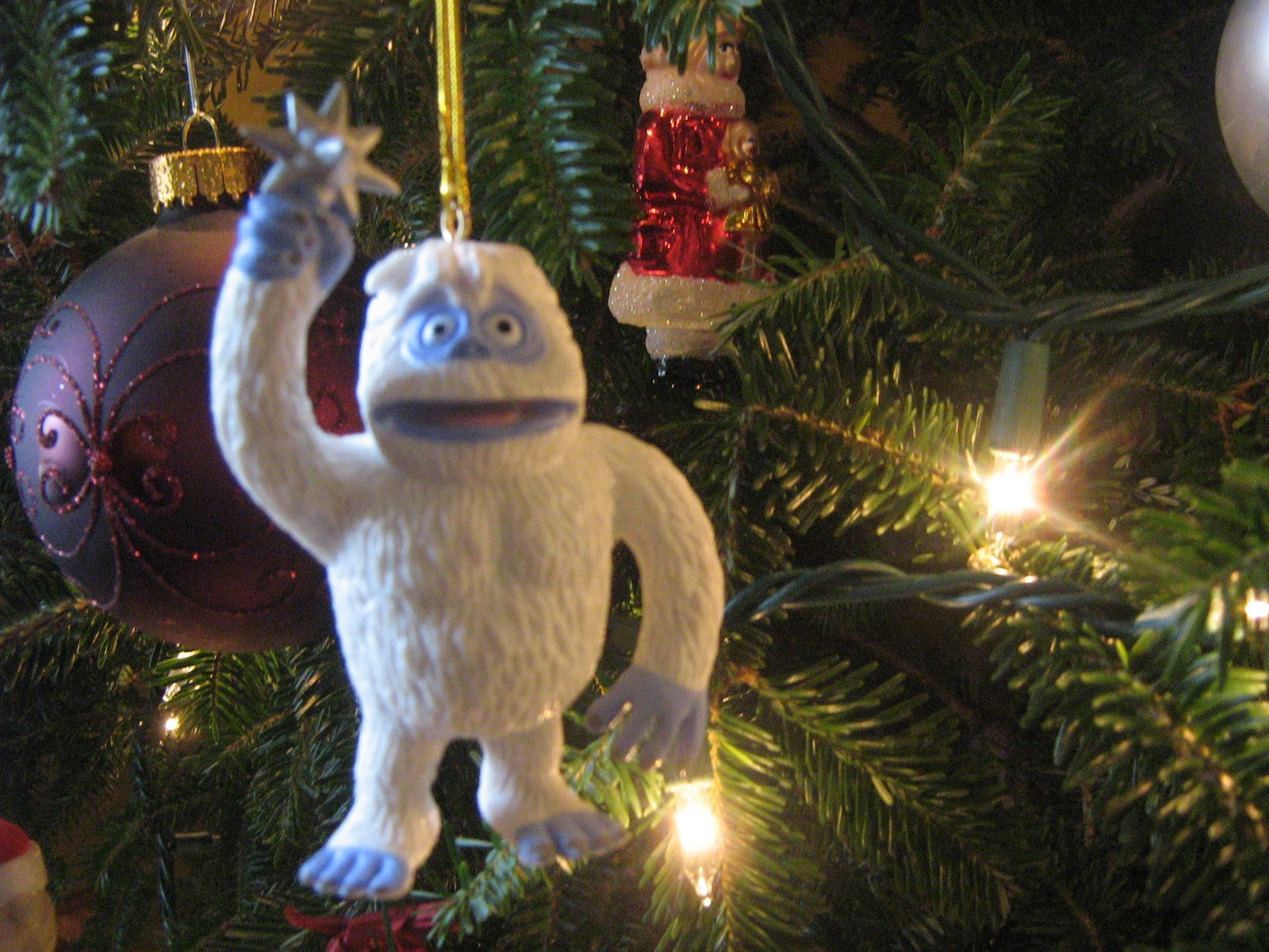 we decorate our house in a really traditional christmas style i cant imagine not having a real treei love the smell and just the atmosphere that you - Bigfoot Christmas Ornament