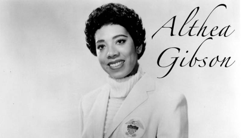 althea gibson Althea gibson was the first african-american tennis player to compete at the us national championships in 1950, and the first black player to compete at wimbledon.