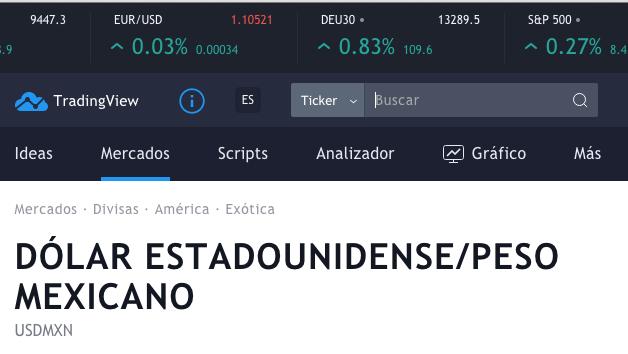 SIGUE EN DIRECTO EL TIPO DE CAMBIO