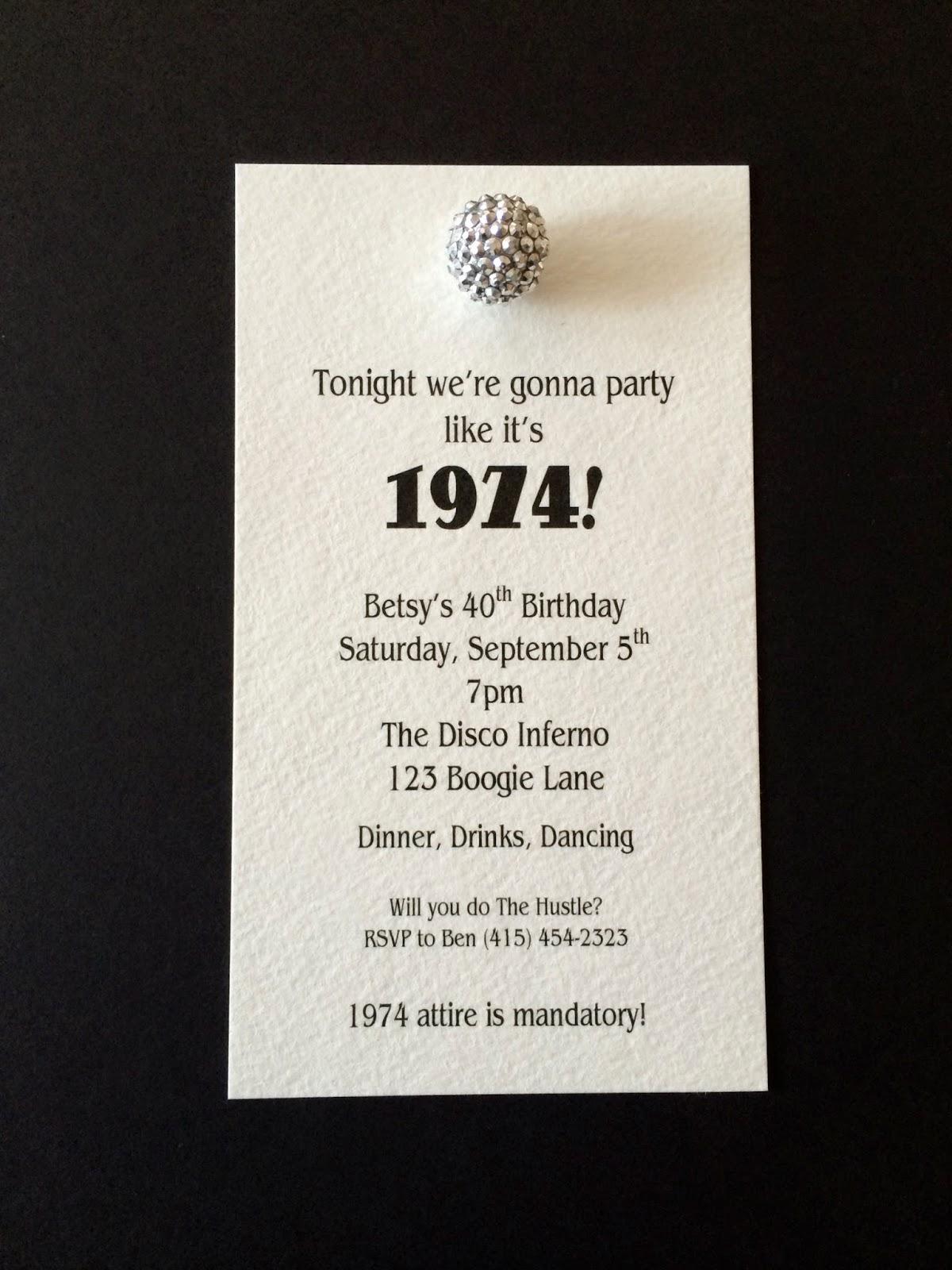 Jac O Lyn Murphy Disco Ball Birthday Invitations