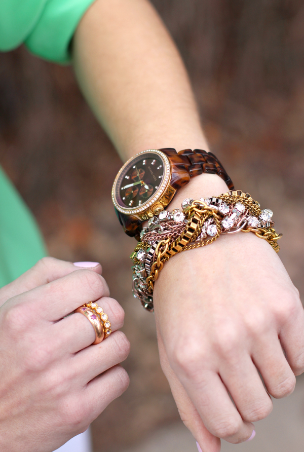 Michael Kors Watch, Aldo bracelet