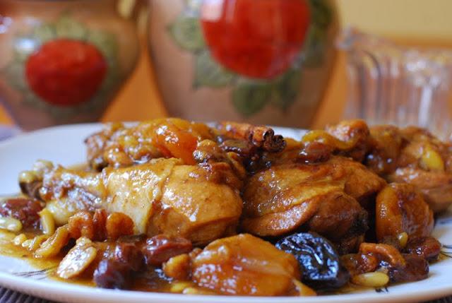 Pollo con frutos secos cuchillito y tenedor - Como se hace pollo en salsa ...