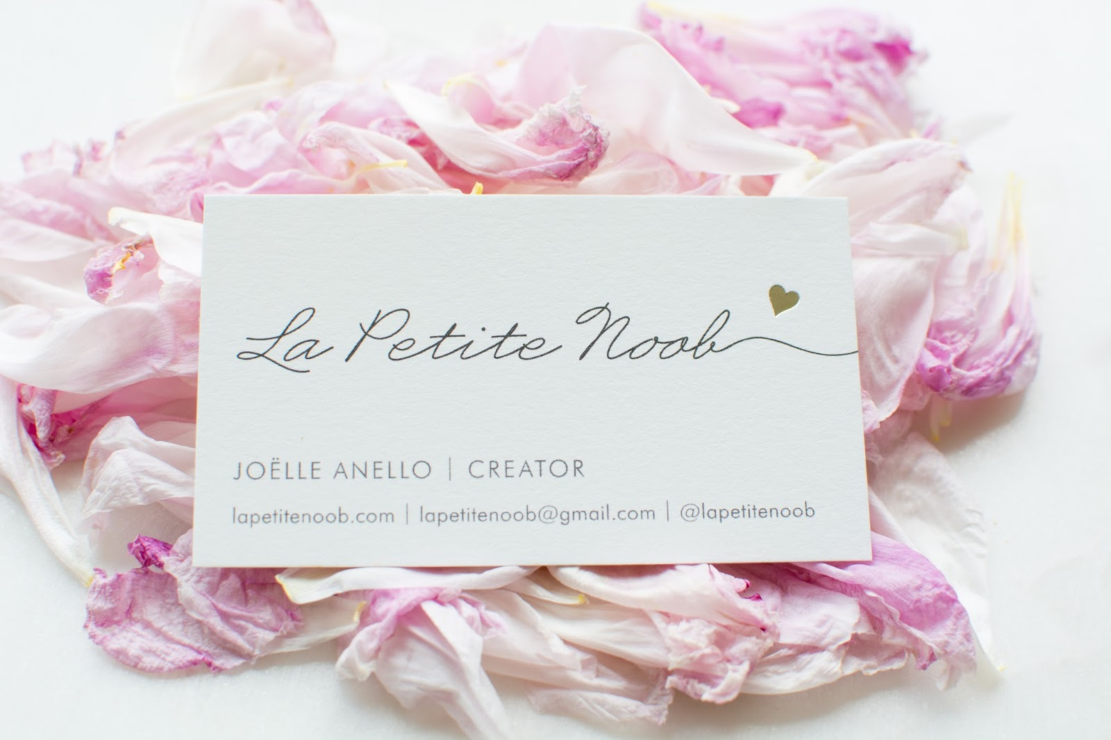 Blog Tips - My Blogging Business Cards from Minted | La Petite Noob ...