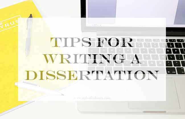 Dissertation writing tips groups