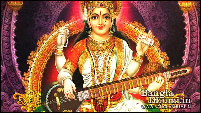 Devi Saraswati Indian God 1366x768 Wide Wallpaper