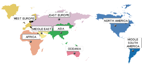 Daftar Kode Area Telepon Internasional