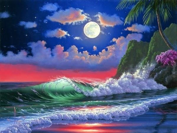 ảnh nền ánh trăng lung linh