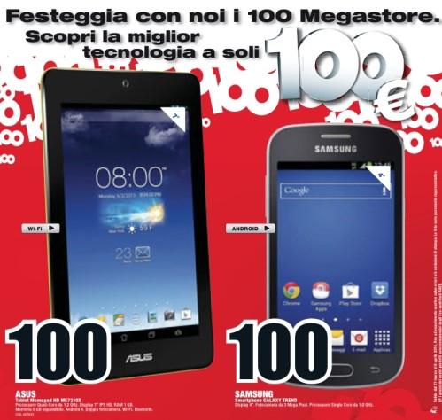 Da Mediaworls tablet Asus e smarpthone samsung a 100 euro