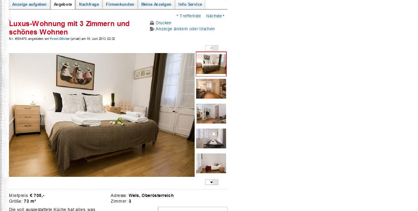 alias yvon olivier tel 05010041864 luxus wohnung mit 3 zimmern und sch nes wohnen wels. Black Bedroom Furniture Sets. Home Design Ideas