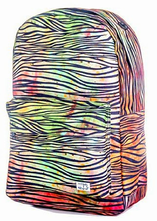 Multi-coloured Zebra Print Rucksack