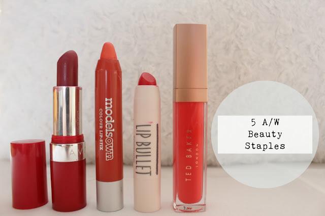 5 A/W Beauty Staples  lipstick blogger beauty